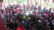 Worshiping with Pastor Isa's church in Uganda