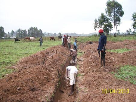 Hand dug wall footings