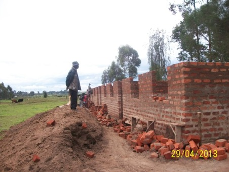 Walls complete to the lentil course.