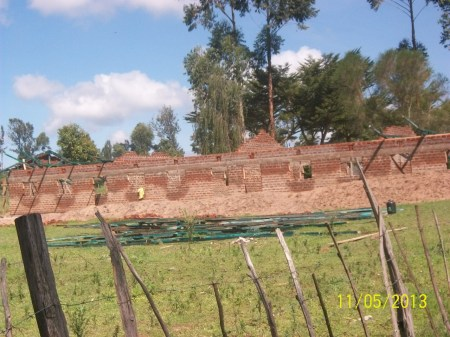 Brick work nearly complete and ready for the roof