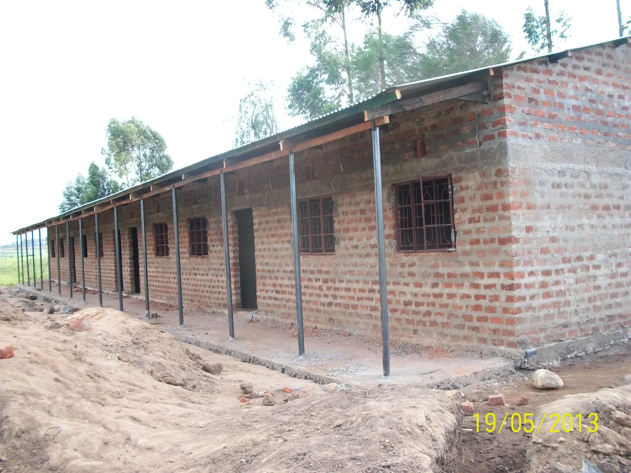 Lsa Construction Building 1 2013 Mission Servants Ministry Wiring In Brick Wall The Plastering Cement Covering Of Walls Inside And Outside Is Finished Doors Are Was Pulled Through For