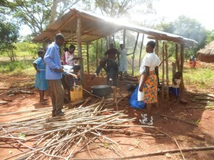 New kitchen for cooking for the children