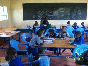 Note the quality tables and chairs used to group students