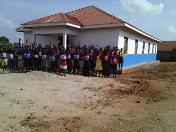All the SOH kids and their new clothes in front of the new Boys Dorm.