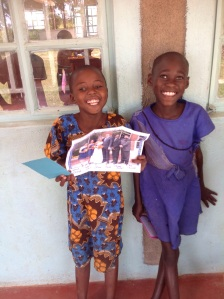All kids got letters from sponsors and supporters. This is a big favorite for them each trip.