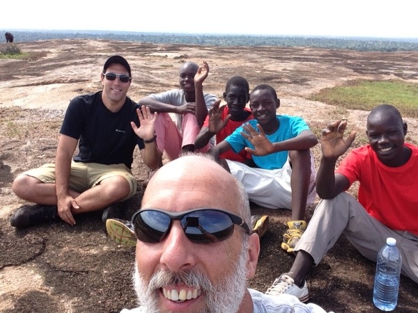 John and I took the oldest boys on a leadership and prayer excursion to the top of a granite hill that is still used in witchcraft practices including child sacrifice. Reportedly inhabited by demons and local superstition. We discussed the power of the Holy Spirit in us, why we have no reason to fear, and prayed for the community. These boys will become team leaders of groups of younger boys at the Home.