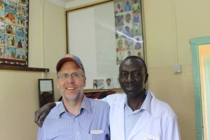 Tony and Dr. Silali, a very hard working Dentist.