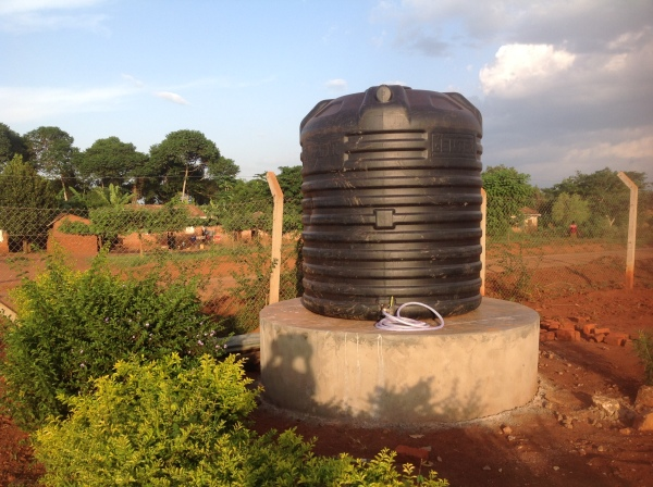 Drinking water storage tank for the community.